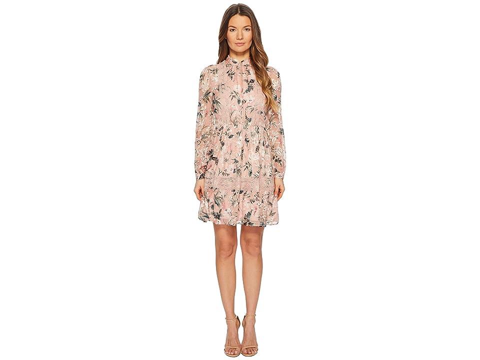 Kate Spade New York Botanical Chiffon Mini Dress (Cameo Pink) Women