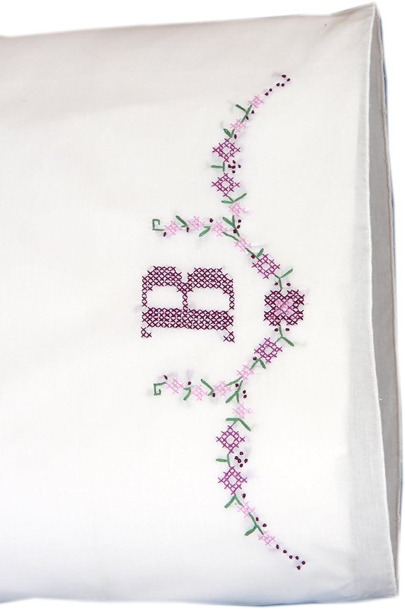 Fairway Monogram Stamped Parle Edge Pillowcases (2 Pack), 30