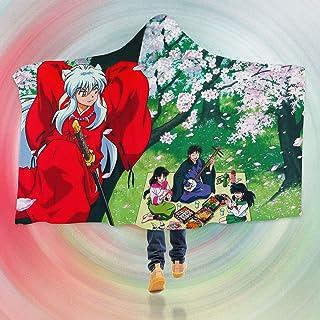 "AJ WALLPAPER 3D Inuyasha 127 Hooded Blanket Cloak Japan Anime Japanese Cosplay Game US Onion (L: 150x200cm(59""x78""))"