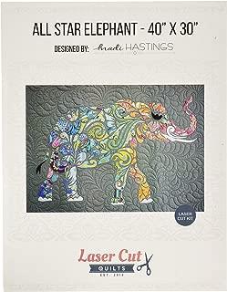 Laser Cut Quilts LCQF895040 All Star Elephant Laser Cut Kit Pattern