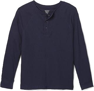 French Toast Boys' Long Sleeve Thermal Raglan Henley T-Shirt Tee