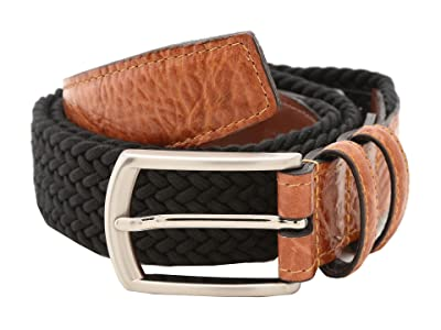 Torino Leather Co. 32MM Italian Woven Multi Cotton Elastic (Black) Men