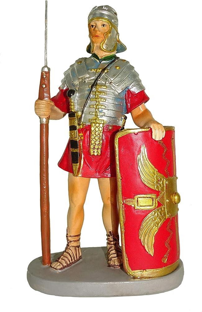 Ferrari e arrighetti statuina per presepe: soldato con scudo linea martino landi cm 10 2410NA29