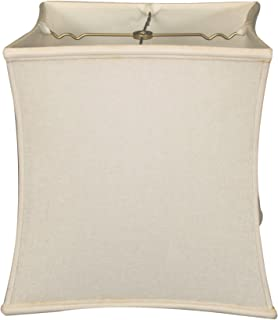 Royal Designs Square Cube Bell Basic Lamp Shade, Linen White, 10.5 x 11 x 12
