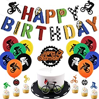 Red Yellow Blue TRICYCLE It\u2019s A Boy Happy Birthday or Baby Shower Party Banner Party Packs Available