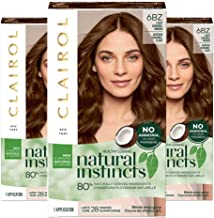 Clairol Natural Instincts Hair Color 6BZ /12A Light Caramel Brown(Pack of 3)