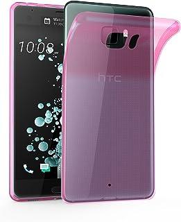 Cadorabo Funda para HTC U Ultra en Transparente Rosa – Cubierta Proteccíon de Silicona TPU Delgada e Flexible con Antichoque – Gel Case Cover Carcasa Ligera