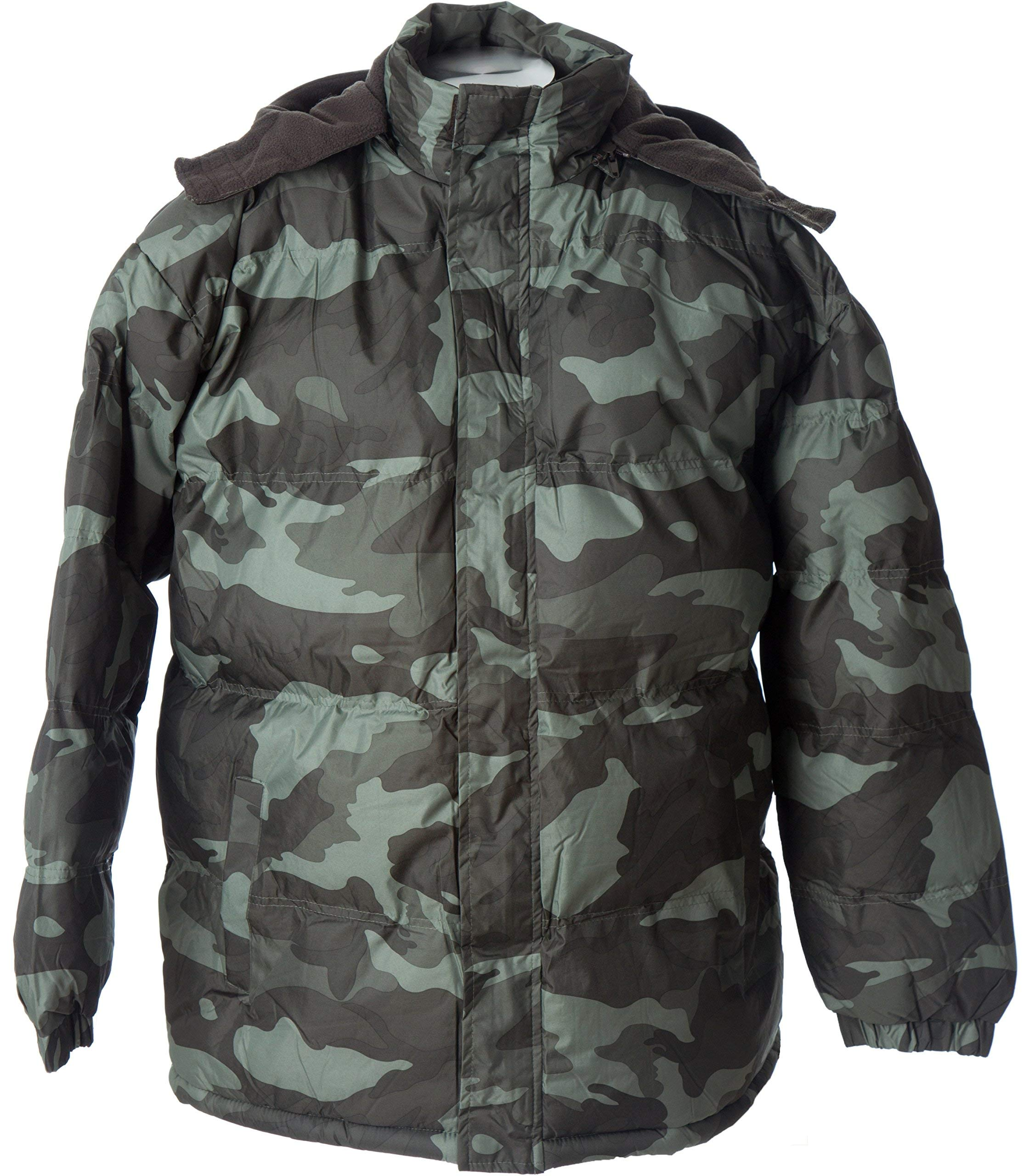 Lion Force Mens' Warm Camouflage Hooded Hunting Jacket Puffer Winter Coat