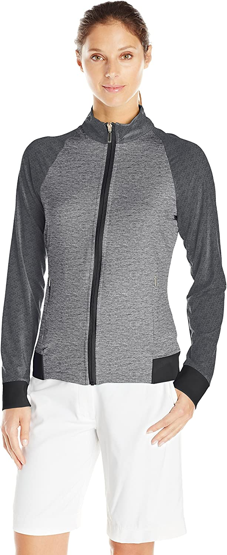 Cutter & Buck Womens Moisture Wicking, UPF 50+, LongSleeve Lena Full Zip Jacket Warm Up or Track Jacket