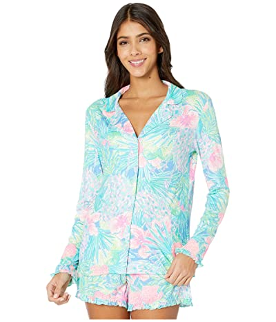 Lilly Pulitzer Ruffle PJ Button-Up Top (Multi Swizzle in Reduced) Women