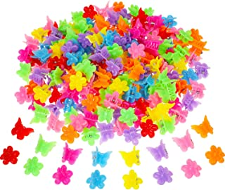 200 Pieces Mini Butterfly Hair Clip Assorted Hair Clip Claw Colored Flower Hair Claw Accessory for Women and Girls, 8 Colors (Style Set 2)