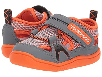 Tsukihoshi Kids B. Ibiza 2 (Toddler) (Gray/Orange) Boy