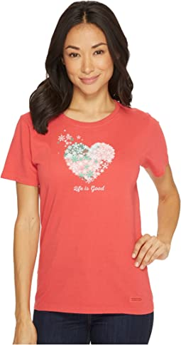 Life is Good - Snowflake Heart Crusher Tee