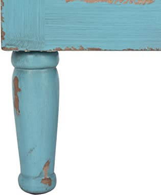 Safavieh American Homes Collection Tablet Distressed Blue 3 Drawer Chest