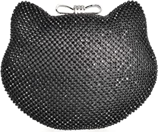 Mossmon Crystal Clutch Cat Shape Luxury Rhinestone Women Evening Bag