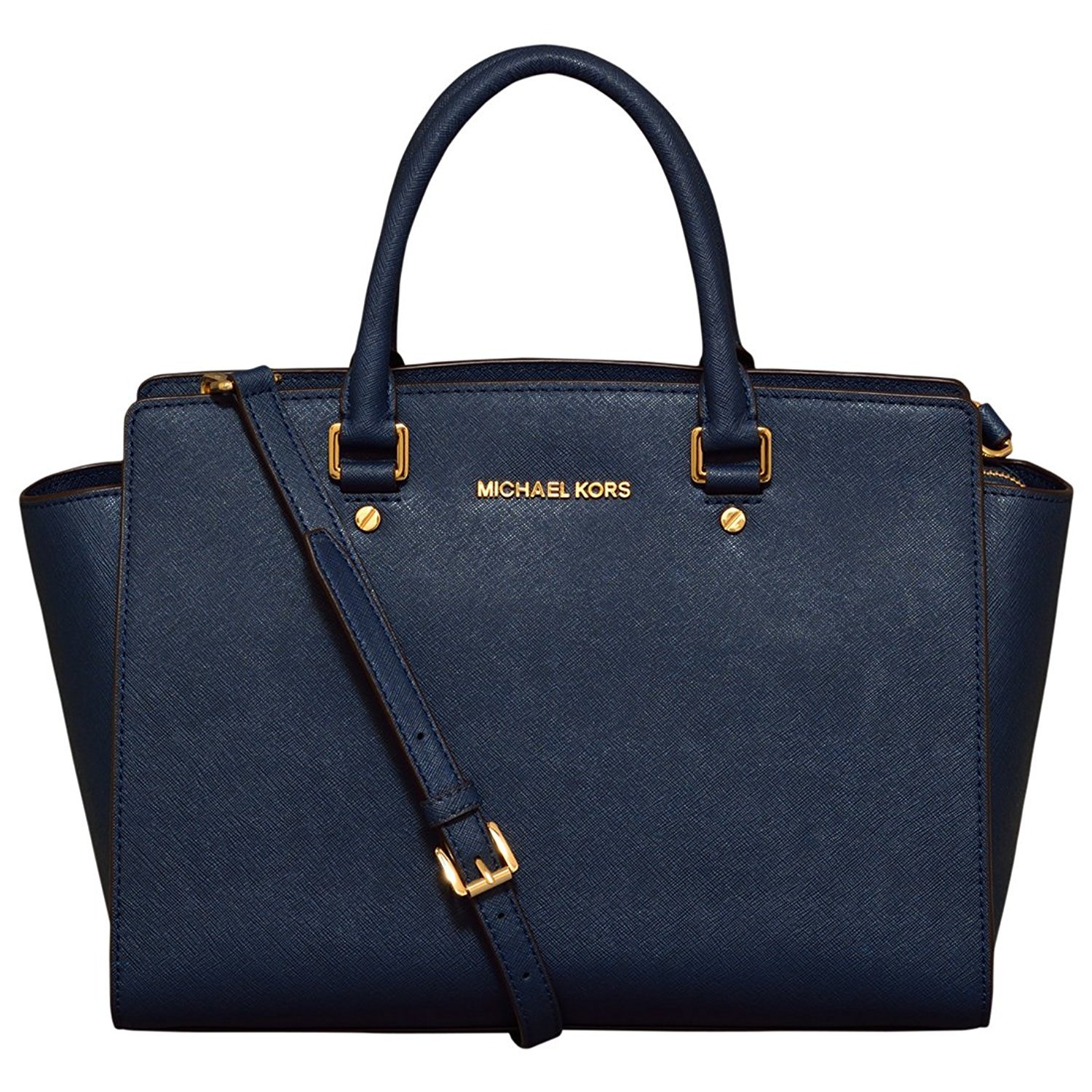 Michael Michael Kors Large Selma Top Zip Satchel In Navy