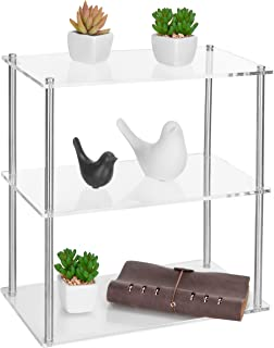 MyGift 3-Tier Clear Acrylic Tabletop Display Shelf