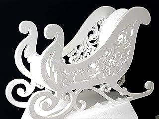 - FoamArt- Kit Slitta Natalizia Babbo Natale in polistirolo EPS ALTA DENSITA' altezza 45 cm