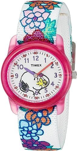 Timex - Time Machines Analog X Peanuts Elastic Fabric Strap (Little Kids/Big Kids)