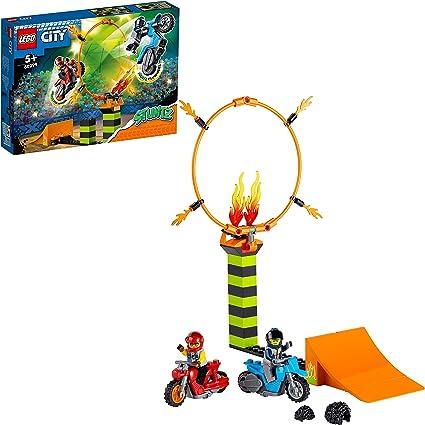 Amazon.nl-LEGO 60299 City Stuntz Stuntcompetitie Bouwset met 2 Speelgoed Motoren met vliegwielaandrijving, Ring van Vuur, en Duke DeTain Minifiguur-aanbieding