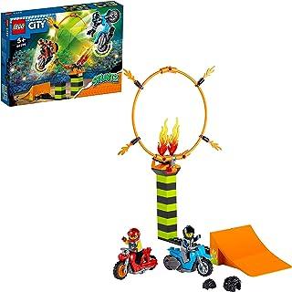 LEGO 60299 City Stuntz Stuntcompetitie Bouwset met 2 Speelgoed Motoren met vliegwielaandrijving, Ring van Vuur, en Duke De...