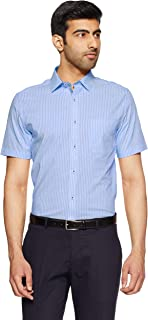 Excalibur by Unlimited Men's Striped Regular Fit Formal Shirt