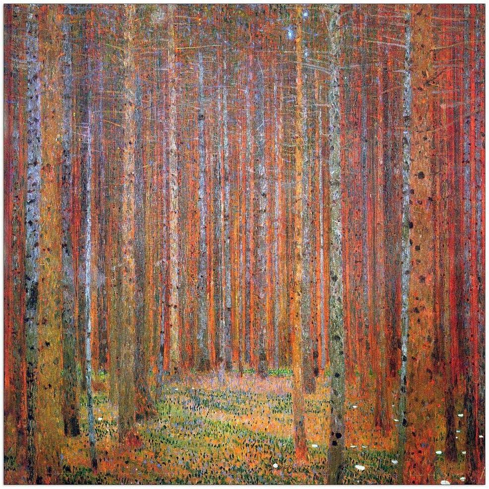 ArtPlaza Klimt Gustav - Tannenwald 15.5x15.5 Panel Bargain I Decorative Cash special price