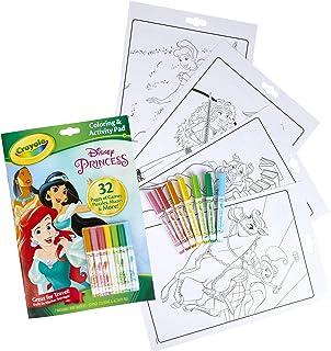 Crayola Disney Princess Coloring and Activity Book with Markers, Packaging may vary