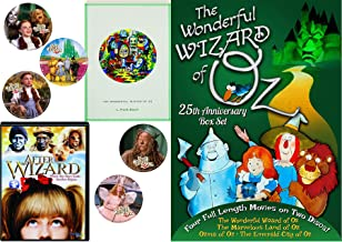 Animated Story Book L. Frank Baum Stories Wonderful Wizard of Oz / Emerald City / Land of / Ozma Cartoons 4 features + Bonus Dorothy Toto Tin Man Cowardly Lion Stickers kids Read & Watch After the Wiz