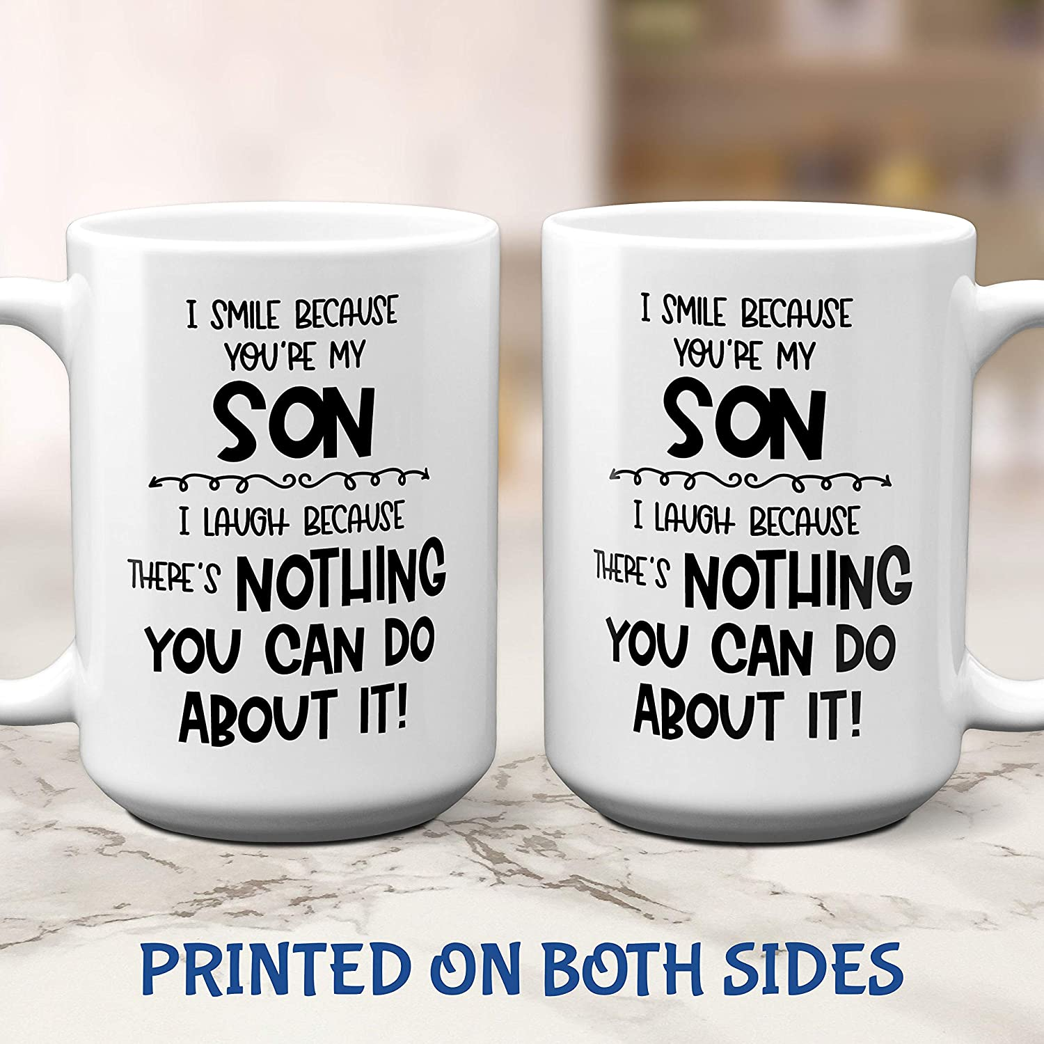 Son Funny Gift Coaster Present Mug//Cup I Smile Because You/'re My Son