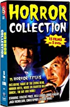 Horror Collection-15 films: Night of The Living Dead, Horror Hotel, House on Haunted Hill, Shock!, The Bat