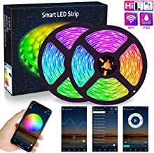 WIFI LED Strip Lights 10M (2x5M), ALED LIGHT RGB LED Strips Lights 5050 SMD 300 (2x150), 16 Million Colors, Sync with Music, IP65 Waterproof, Smart Phone APP Controlled LED Band, Work with Alexa, Google Home