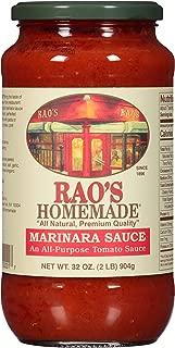 Rao's Homemade, Marinara Sauce, 32 oz., Classic Italian Tomato Sauce, Great on Pasta, Made With Fresh Basil, Italian Tomatoes, Garlic, and Seasonings, No Sugar Added
