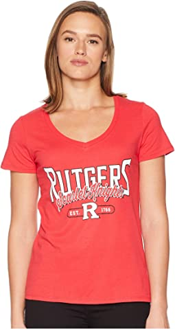 Rutgers Scarlet Knights University V-Neck Tee