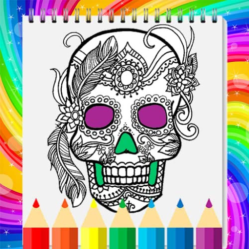 Skull Coloring Book - Adult Coloring