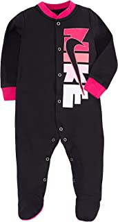 NIKE Children's Apparel Girls' Baby Graphic Logo Footed Coverall