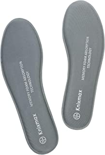 Knixmax Women's Memory Insoles Comfort Shoe Inserts Shock Absorption Cushioning Foot Support Pads, Grey, 8