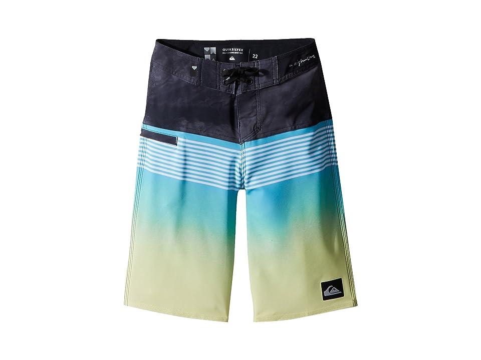 Quiksilver Kids Highline Lava Division Boardshorts (Big Kids) (Cyan Blue) Boy