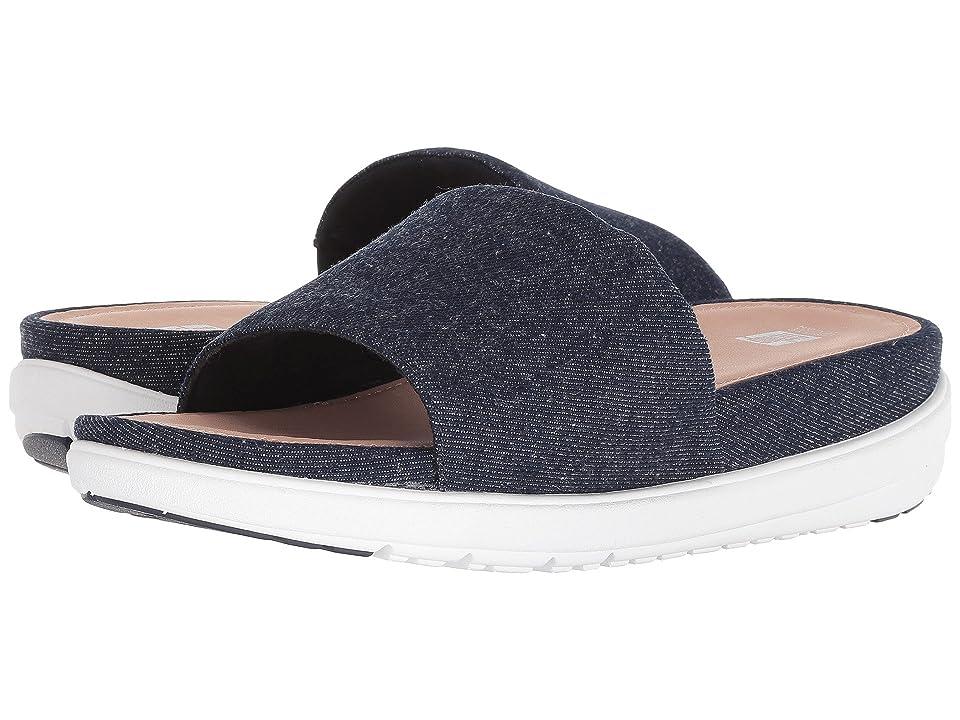 FitFlop Loosh Luxetm Slide Sandals (Dark Blue Denim) Women
