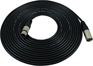 GLS Audio 25 foot Mic Cable Patch Cords - XLR Male to XLR Female Black Microphone Cables - 25' Balanced Mic Snake Cord - Single