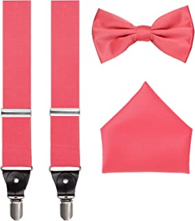 Best coral pink bow tie and suspenders Reviews