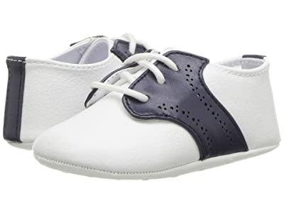 Janie and Jack Saddle Crib Shoes (Infant) (White) Boys Shoes