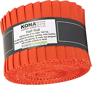Kaufman Fabrics Kona Cotton Tiger Lily 2018 Color of the Year 2.5in Half-Roll