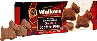 Walkers Shortbread Chocolate Scottie Dogs, Chocolate Pure Butter Shortbread Cookies, 3.9 Ounce (Pack of 1)