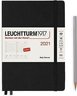 ロイヒトトゥルム 手帳 2021年 1月始まり A4 デイリー ブラック 362092