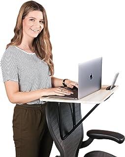 Wuteku Tragbar Steh-Stuhl-Schreibtisch - Perfekt für Laptop Gebrauch - Einfach auf den Stuhl Montieren - Passt auf jede Stuhlgröße und Stil - Voll Verstellbares System - Telefon- oder Tablet Steckdose