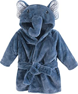 Little Treasure Plush Bathrobe, Chevron Elephant, 0-9 Months
