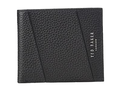 Ted Baker Fiters Seamed Leather Bifold Wallet (Black) Bi-fold Wallet