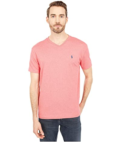 Polo Ralph Lauren Classic Fit V-Neck Tee (Highland Rose Heather 1) Men