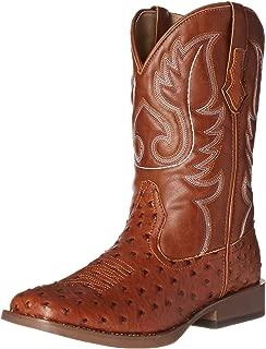 faux ostrich boots